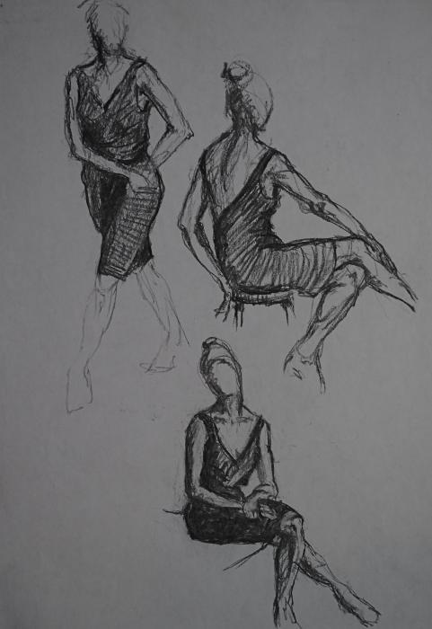 Little Black Dress X Three Print by Chris  Riley