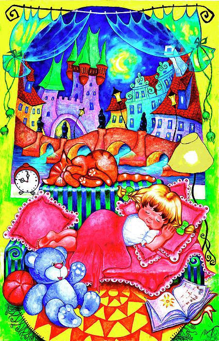 Little Katya Print by Inga Konstantinidou