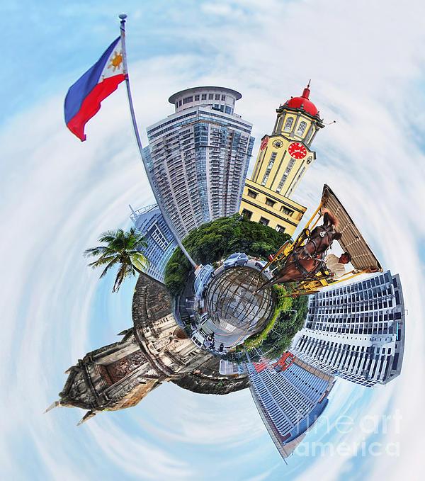 Little Planet - Manila Print by Yhun Suarez