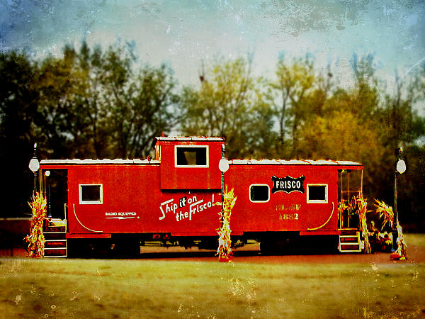 Little Red Caboose Print by Linda Deal