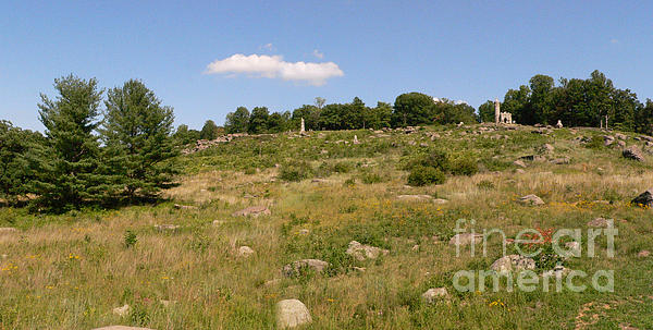 Little Round Top From Devils Den Print by David Bearden