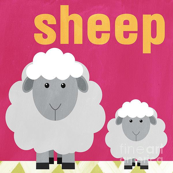 Little Sheep Print by Linda Woods