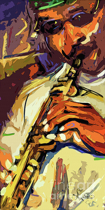 Live Horn Session #1 Print by Ginette Fine Art LLC Ginette Callaway
