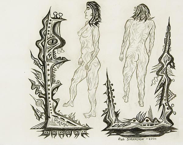Live Nude 18 Female Print by Robert  SORENSEN