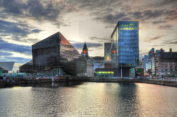 Liverpool After Dark Print by Barry R Jones Jr