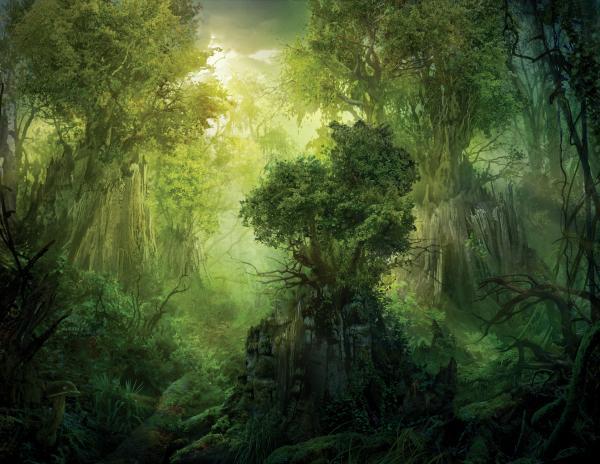 Llanowar Reborn Print by Philip Straub