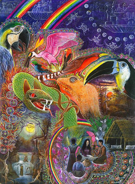 Llullu Machaco  Print by Pablo Amaringo