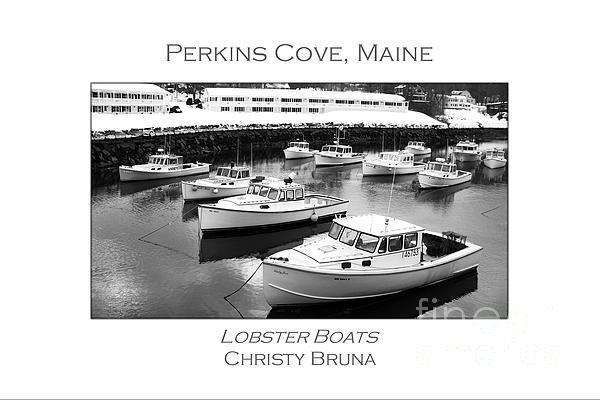 Lobster Boats Print by Christy Bruna