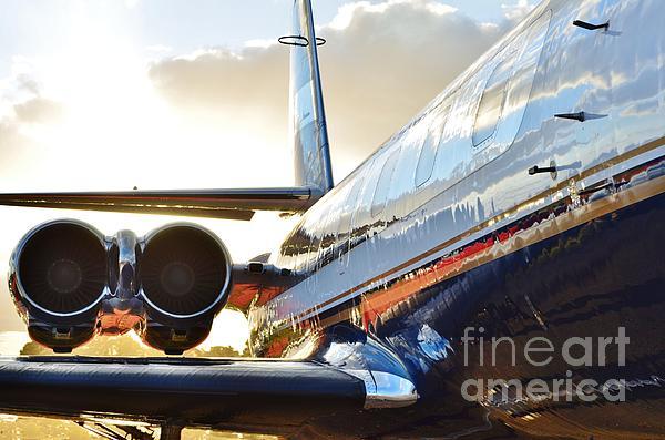 Lockheed Jet Star Side View Print by Lynda Dawson-Youngclaus