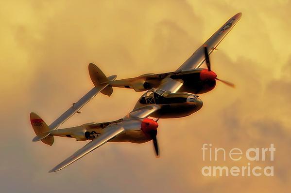 Lockheed P-38 Lightning 2011 Chino Air Show Print by Gus McCrea