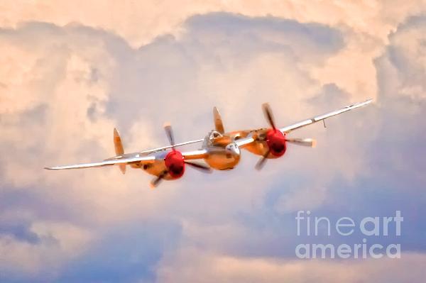 Lockheed P-38 Lightning 'honey Bunny' Print by Gus McCrea