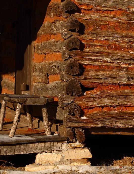 Log Cabin Print by Robert Frederick