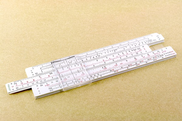 Logarithmic Slide Rule Print by Friedrich Saurer