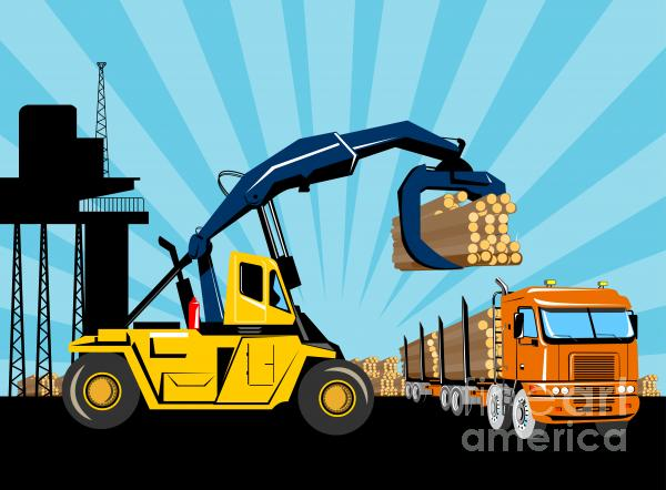Logging Truck Print by Aloysius Patrimonio