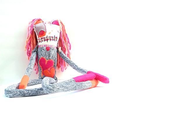 Lollipop The Zombie Raver Print by Oddball Art Co by Lizzy Love