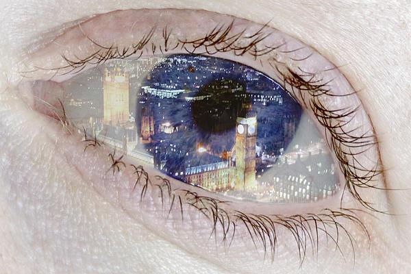 London Eye Print by Alice Gosling