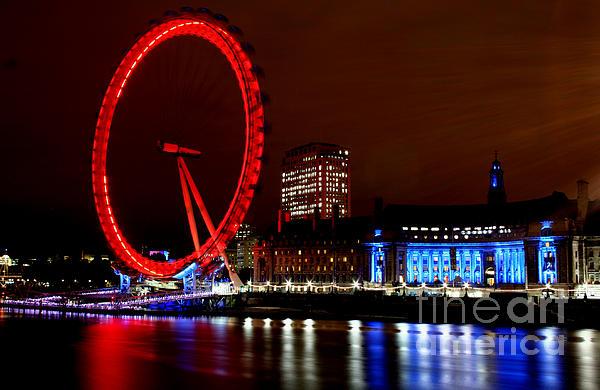 London Eye Print by Heather Applegate