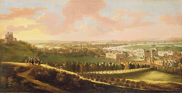 London From Greenwich Hill Print by  English School