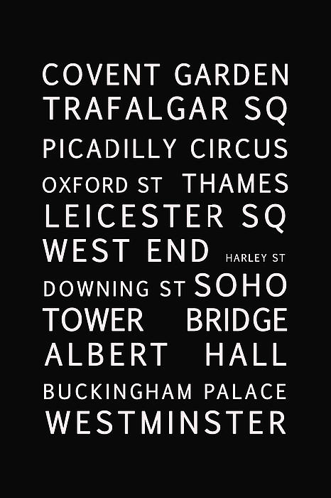 London Print by Nomad Art And  Design