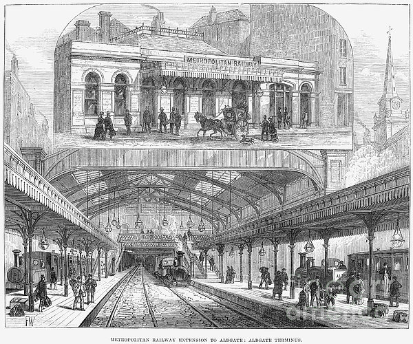 London: Railway, 1876 Print by Granger