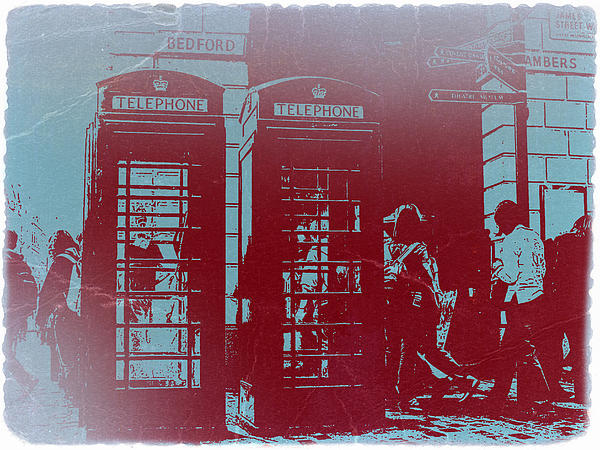 London Telephone Booth Print by Naxart Studio