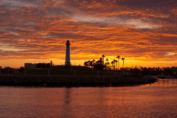 Long Beach Under Sunset Print by Lee Chon