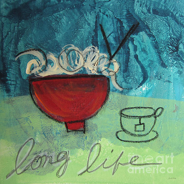 Long Life Noodles Print by Linda Woods