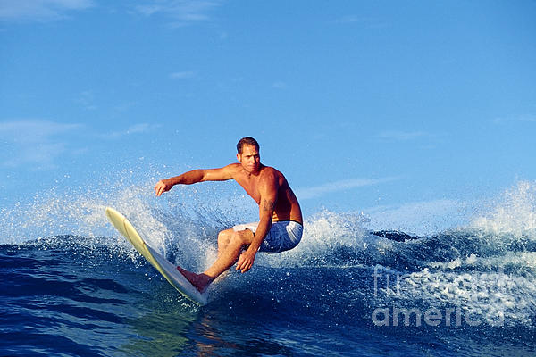 Longboard Surfer Print by Paul Topp