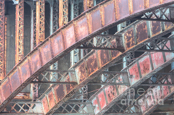 Longfellow Bridge Arches I Print by Clarence Holmes