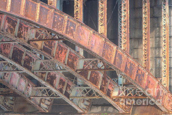 Longfellow Bridge Arches IIi Print by Clarence Holmes