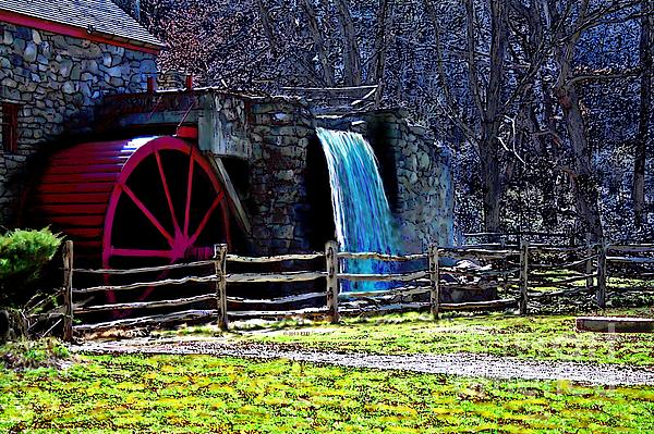 Longfellow's Wayside Gristmill Painting 2 Print by Earl Jackson