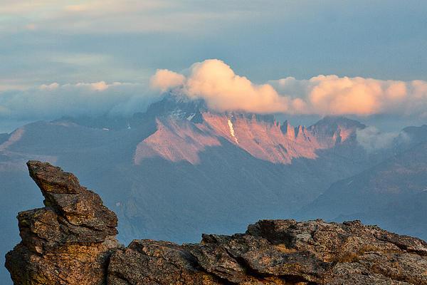 Long's Peak Sunset Print by Jim Garrison
