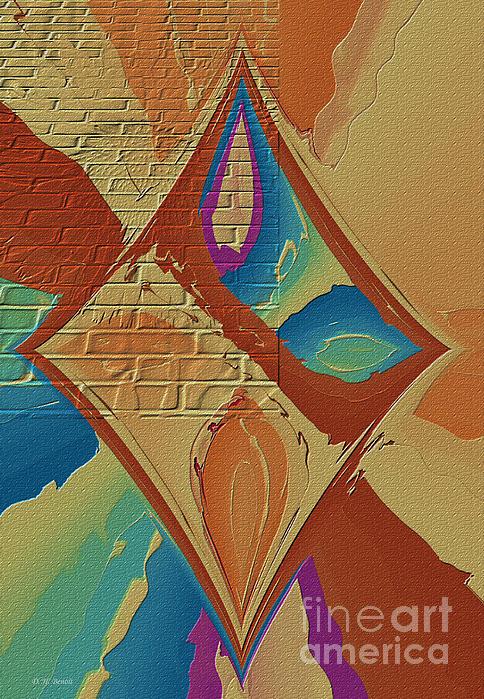Look Behind The Brick Wall Print by Deborah Benoit