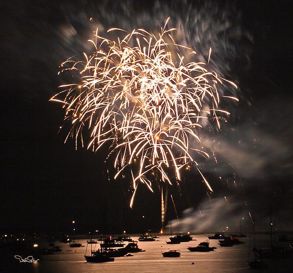 Lopez Island Fireworks 2 Print by David Salter