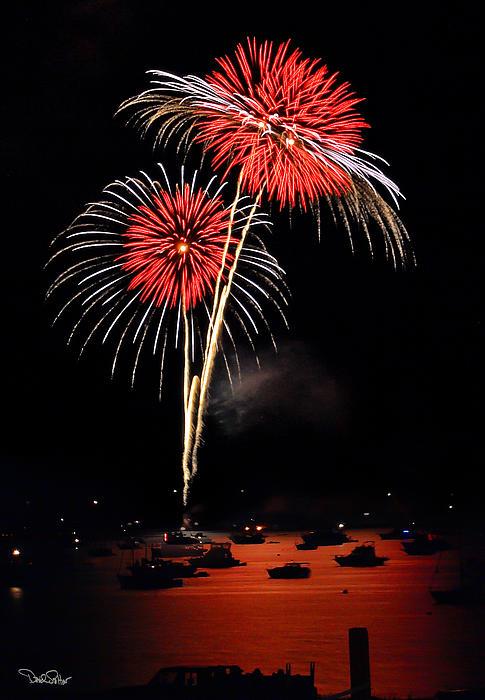 Lopez Island Fireworks 3 Print by David Salter