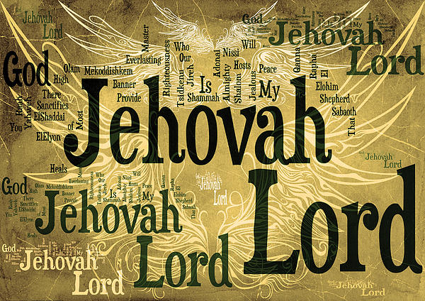 Lord Jehovah 2 Print by Angelina Vick