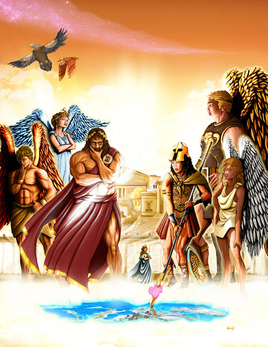 Lords Of Olympus Print by Scott Harshbarger