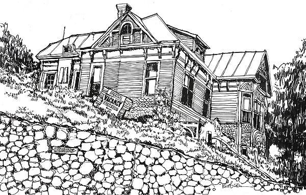 Los Angeles Victorian Home In Bunker Hill Area Print by Robert Birkenes