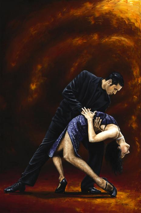 Lost In Tango Print by Richard Young