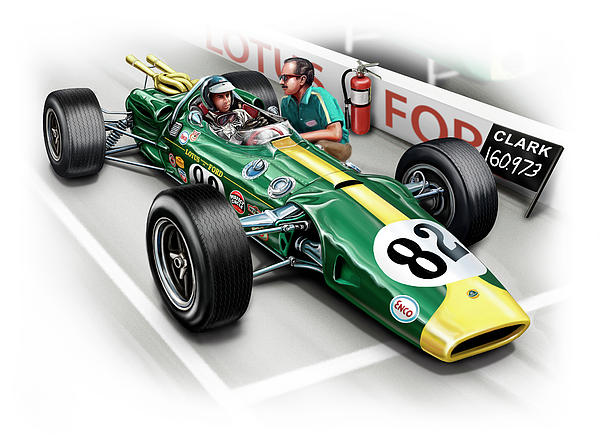 Lotus 38 Indy 500 Winner 1965 Print by David Kyte