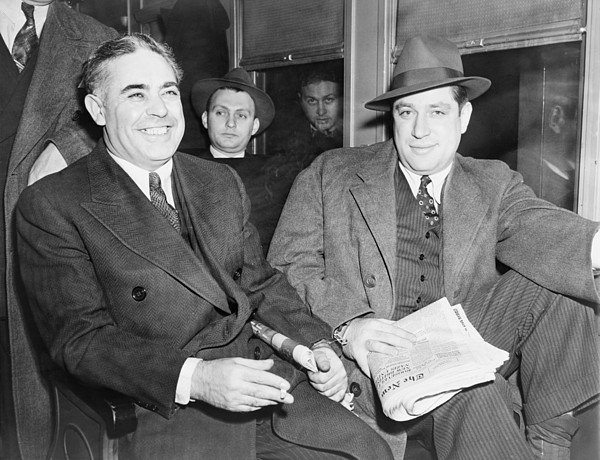 Louis Capone 1896-1944 And Emanuel Print by Everett