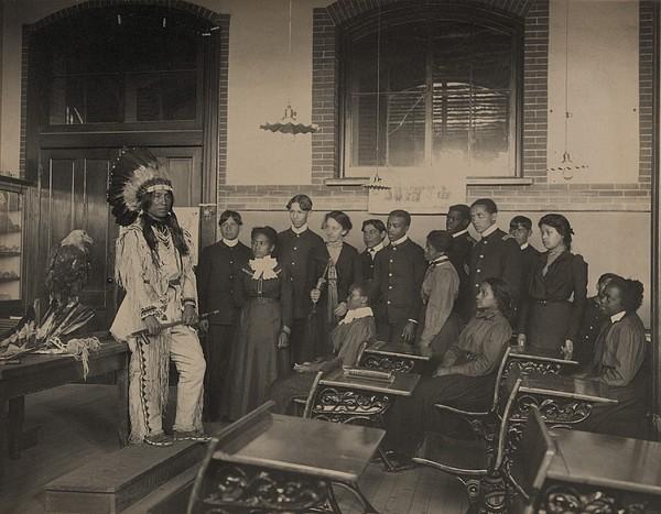 Louis Firetail, Wearing Sioux Tribal Print by Everett