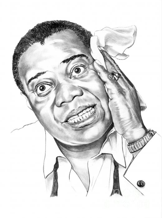 Louis Satchmo Armstrong Print by Murphy Elliott