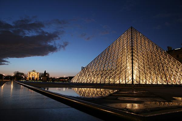 Louvre Puddle Reflection Print by Joshua Francia