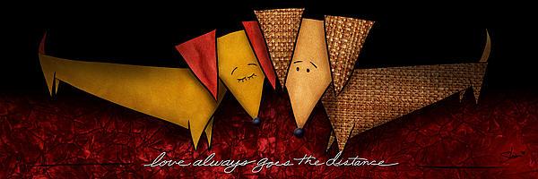Love Always Goes The Distance Print by Shevon Johnson