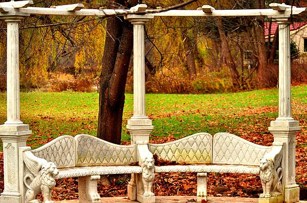 Love Bench Print by Puzzles Shum