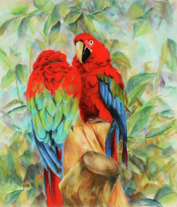 love birds painting by usha p love birds fine art prints and love birds 597x700