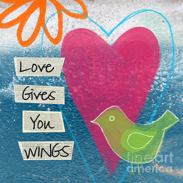 Love Gives You Wings Print by Linda Woods