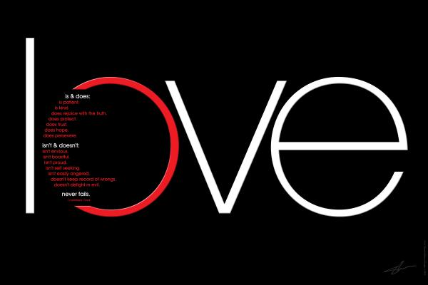 Love Is And Does Print by Shevon Johnson