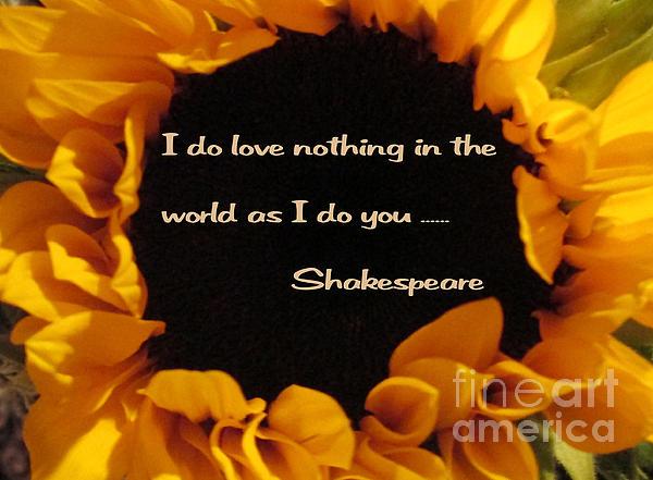 Love Nothing As I Do You Print by Patricia Januszkiewicz